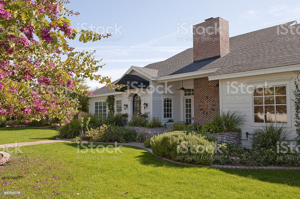 View of Front of Home royalty-free stock photo
