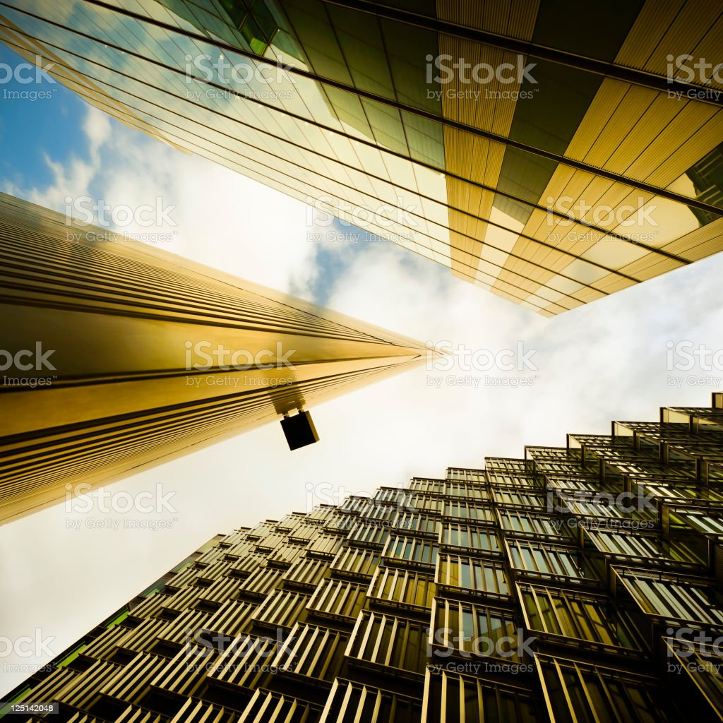 View of futuristic financial buildings royalty-free stock photo