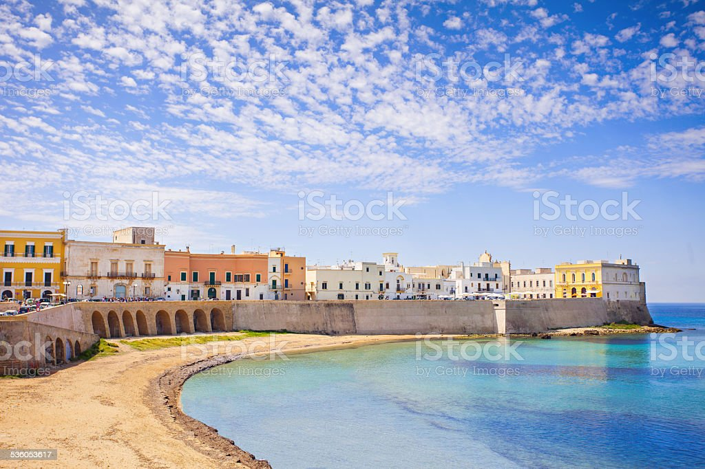 View of Gallipoli, Italy stock photo