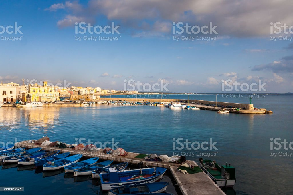 A view of Gallipoli Port stock photo