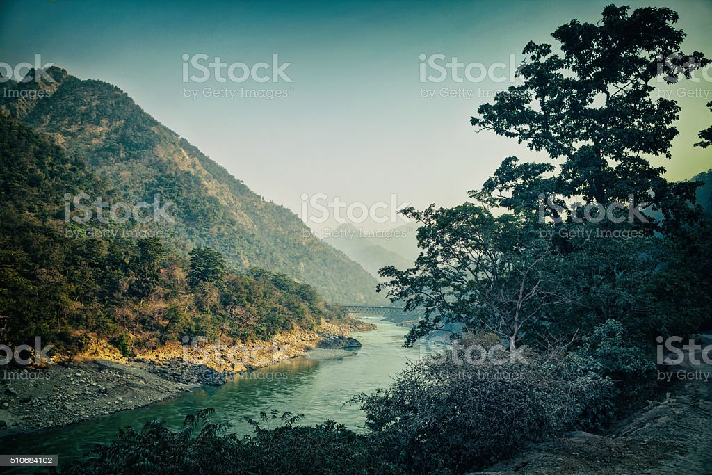 View of Ganges stock photo