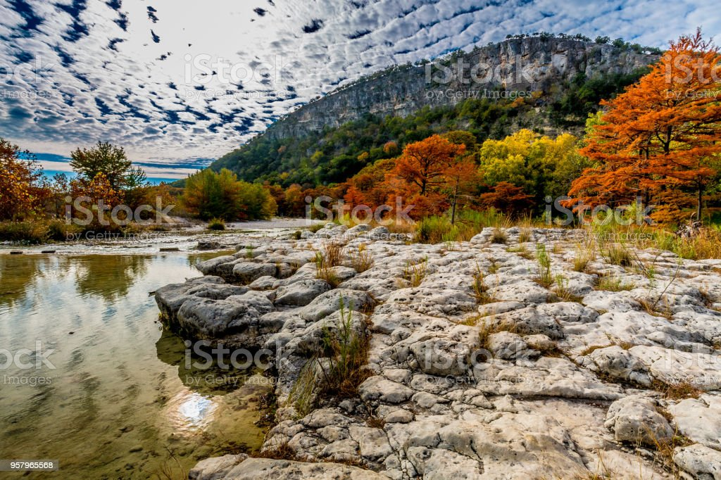 View of Garner State Park, Texas stock photo