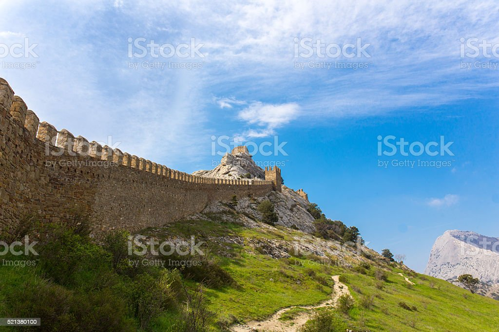 View of Genoese fortress stock photo