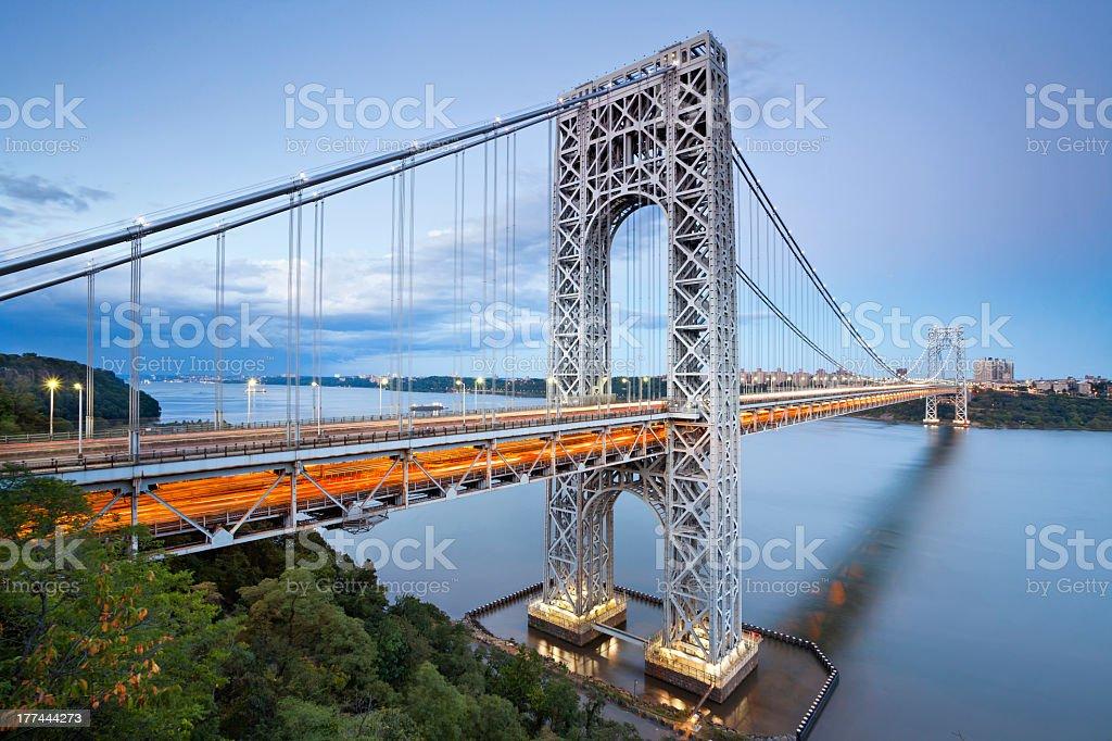 View of George Washington Bridge in New York stock photo