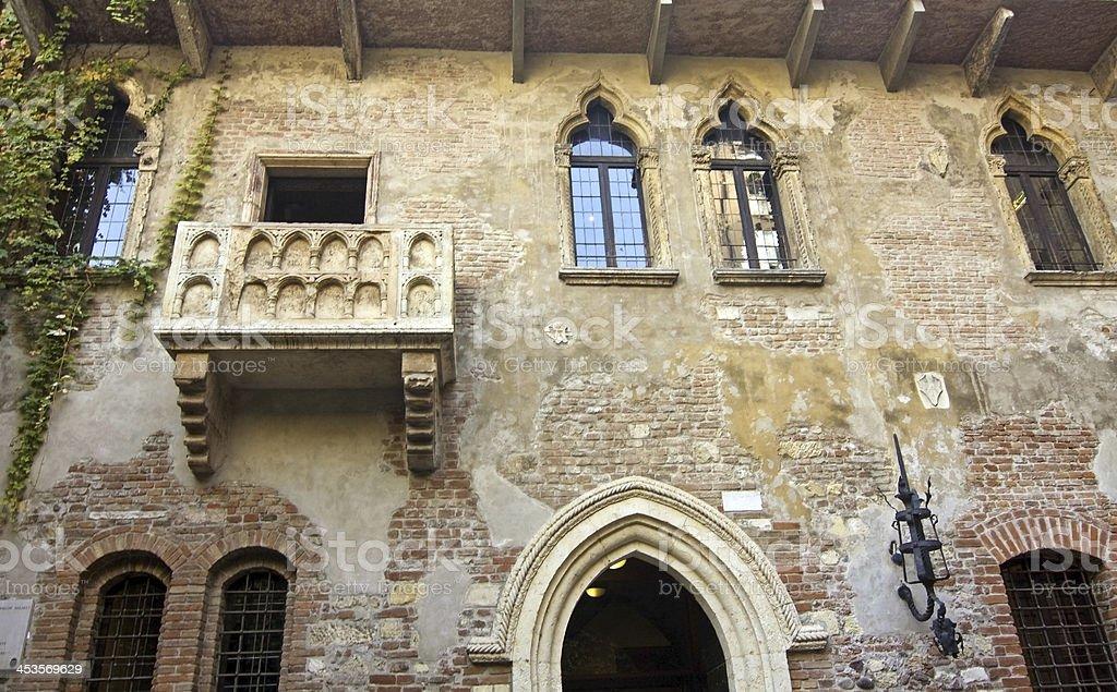 view of giulietta's house - verona stock photo