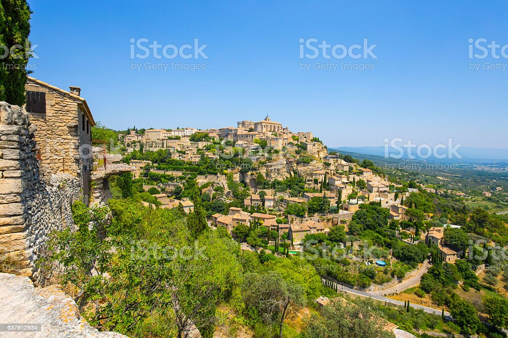 View of Gordes, medieval village in Provence, France stock photo