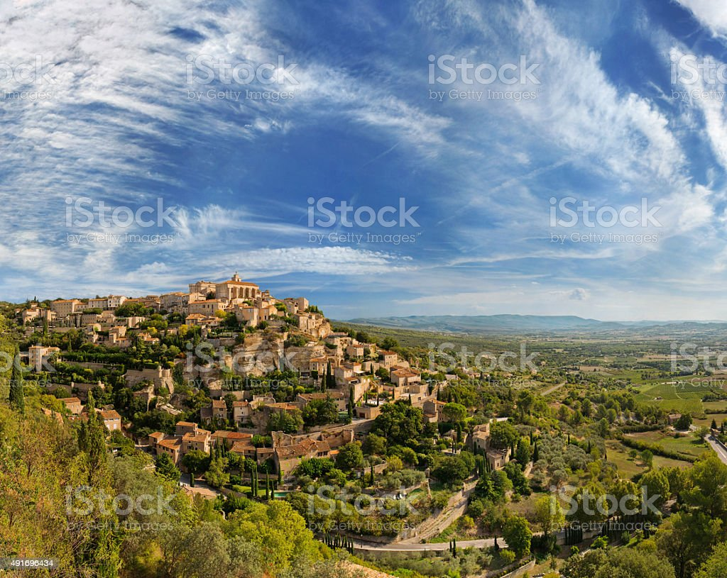View of Gordes - traditional french village stock photo