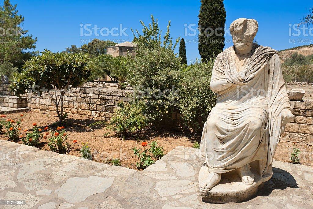 View of Gortyn. Crete, Greece stock photo