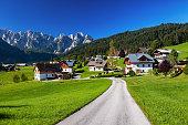 View of Gosau valley, Salzkammergut, Austria