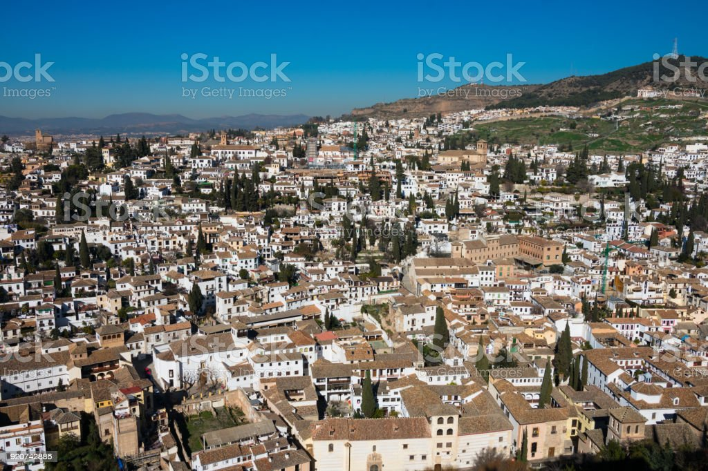 View of Granada city  (Albaicin District) stock photo