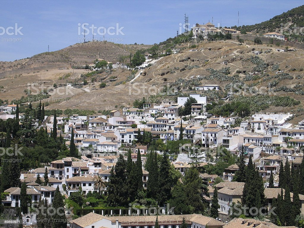 View of Granada from the Alhambra, Spain royalty-free stock photo