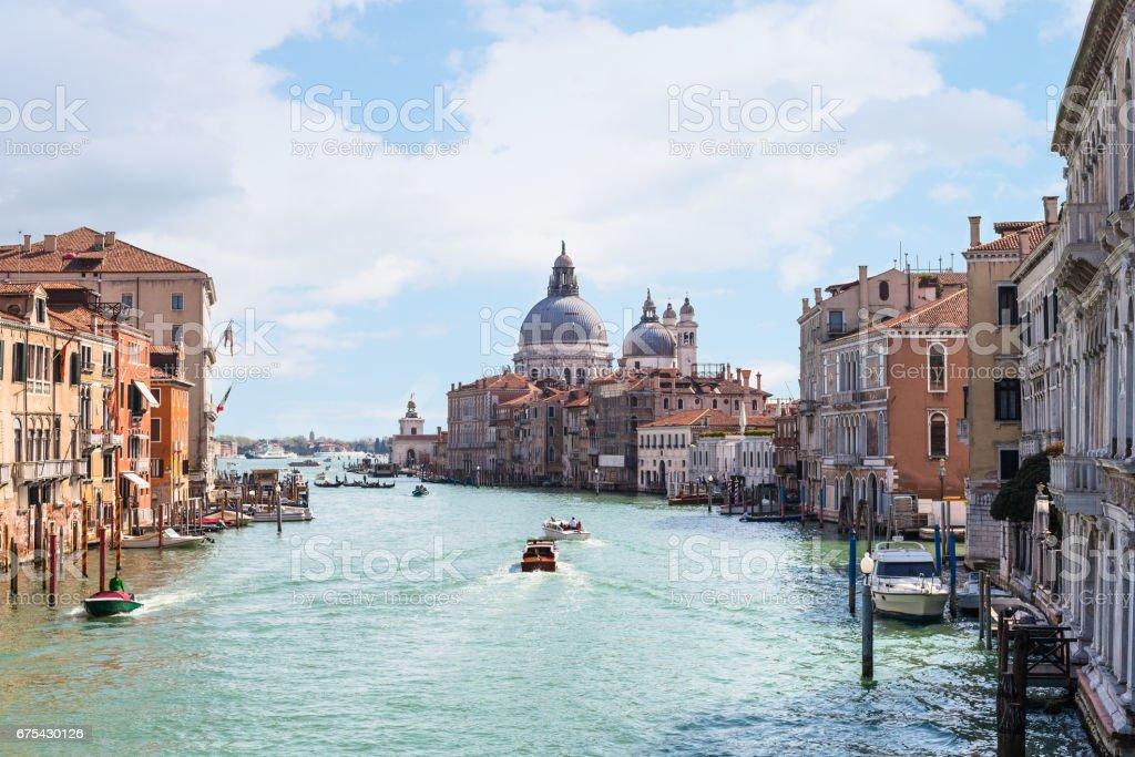 Grand Canal bahar Venedik şehrinde görünümünü royalty-free stock photo