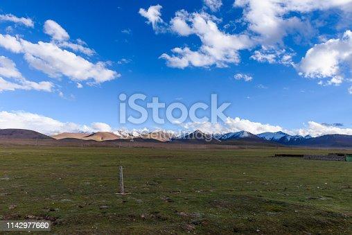 Nyenchen Tanglha Mountains range