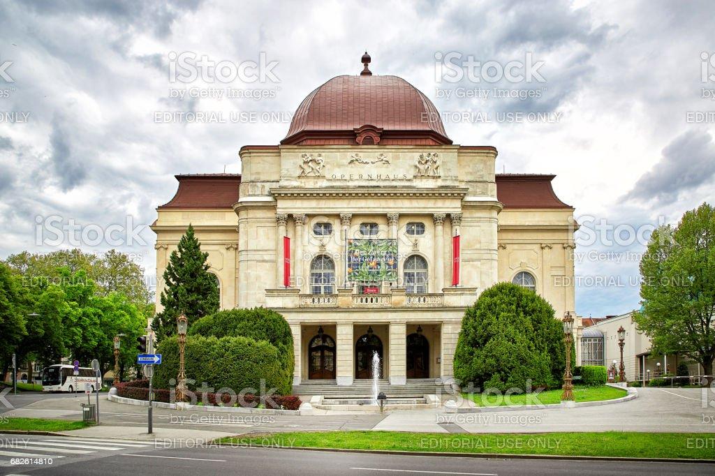 View of Graz Opera stock photo