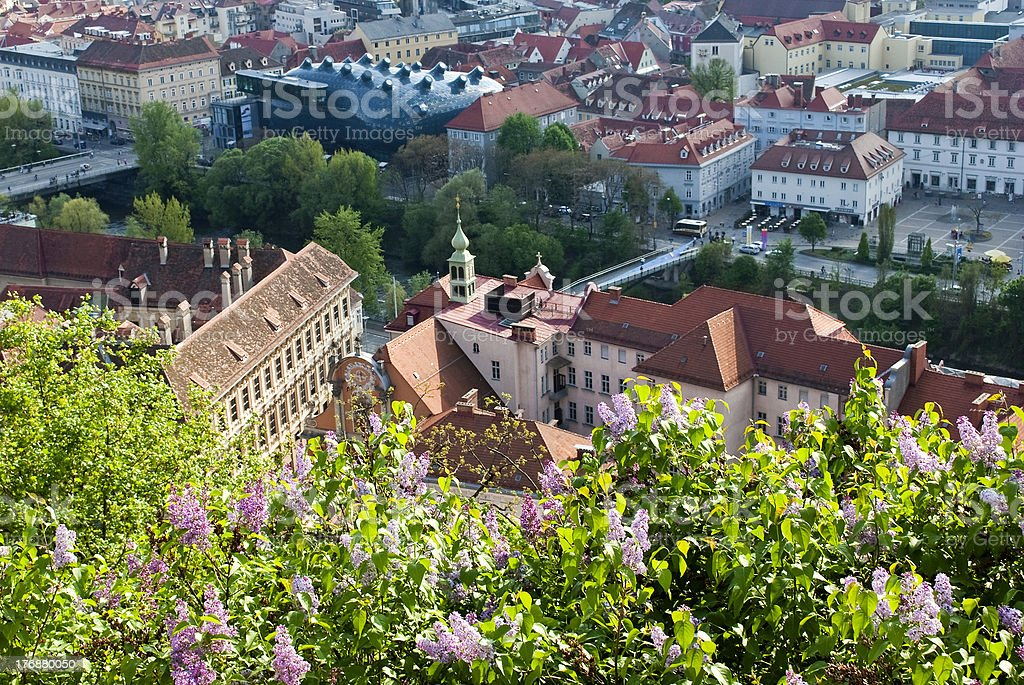 View of Graz royalty-free stock photo