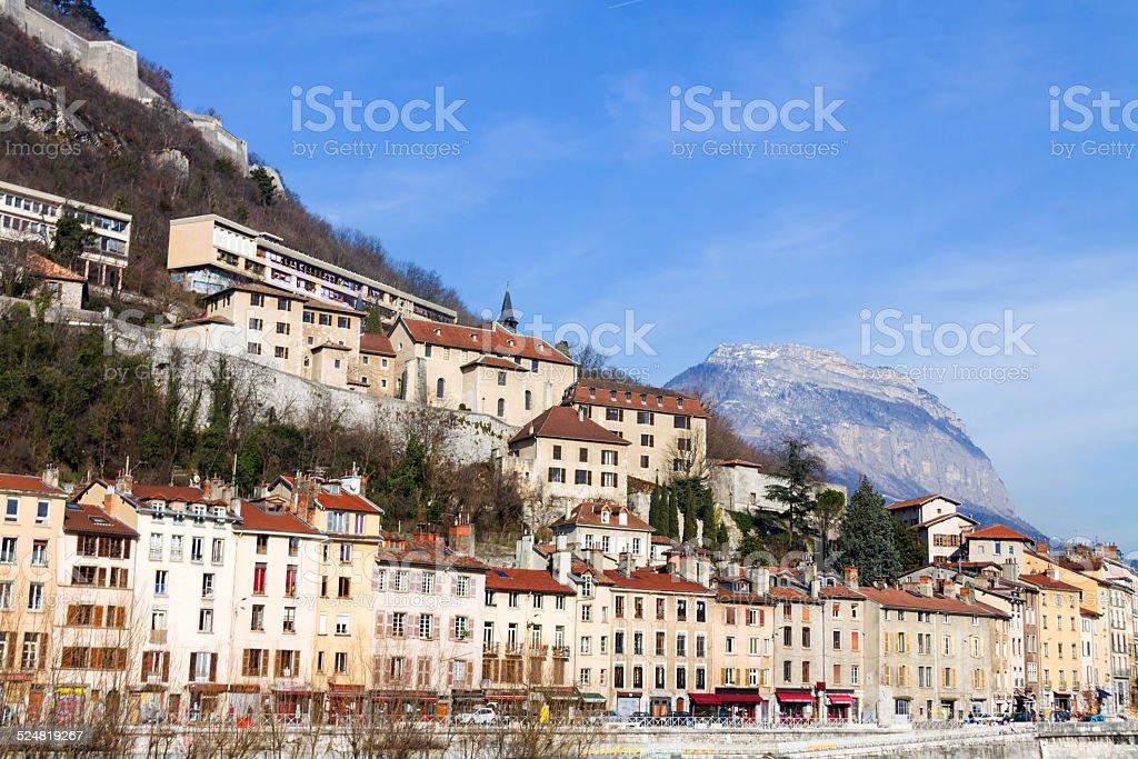 View of Grenoble Bastille stock photo
