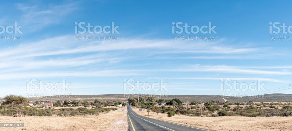 View of Griekwastad, a town in the Northern Cape Province stock photo