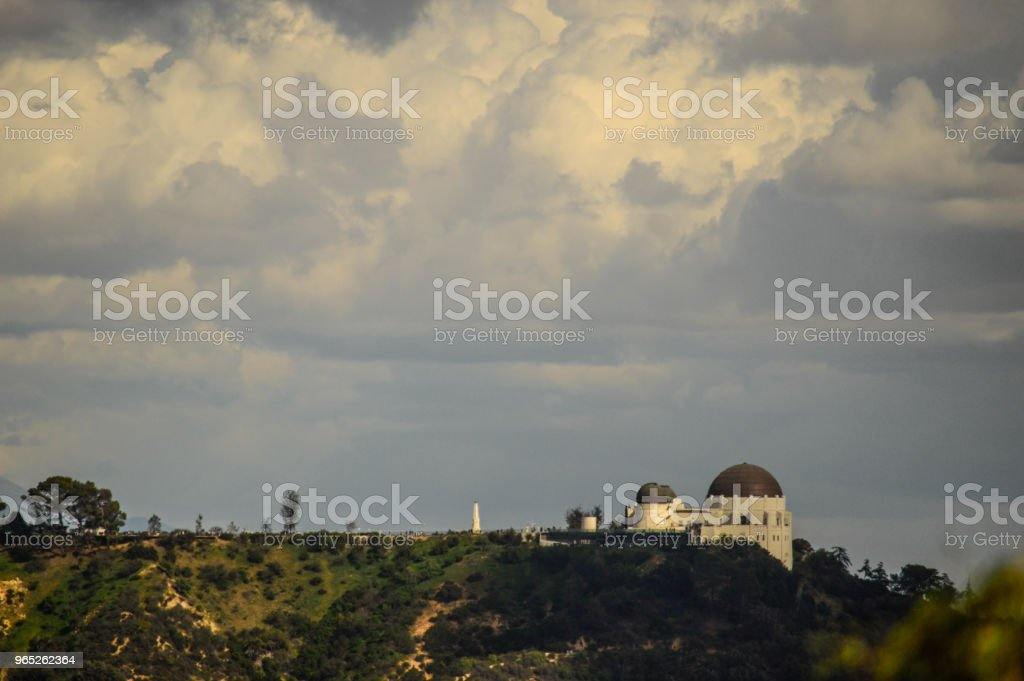 View of Griffith Park Observatory in Los Angeles royalty-free stock photo