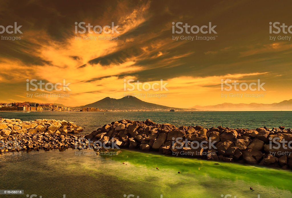 View of Gulf of Naples,Italy stock photo