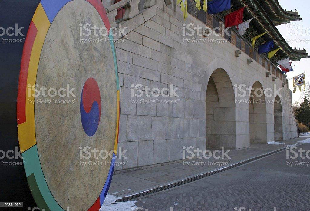 View of Gyeongbokgung Palace, Seoul, South Korea royalty-free stock photo