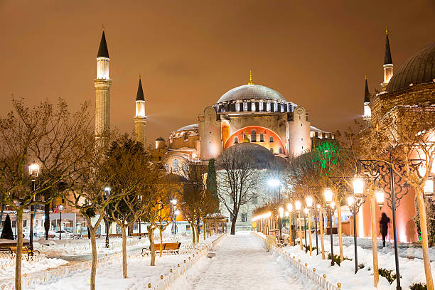 View of Hagia Sophia, Aya Sofya, museum in Istanbul Turkey stock photo
