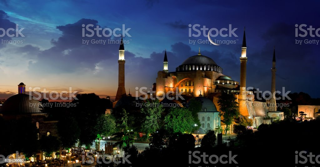 View of Hagia Sophia stock photo