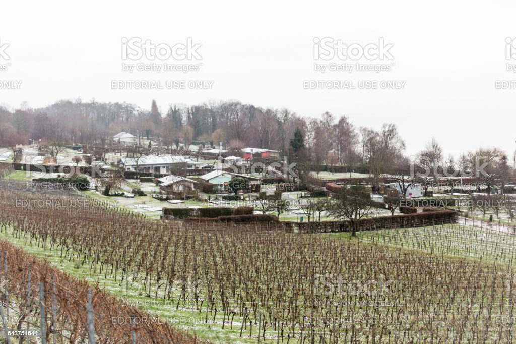 View of Hagnau am Bodensee stock photo