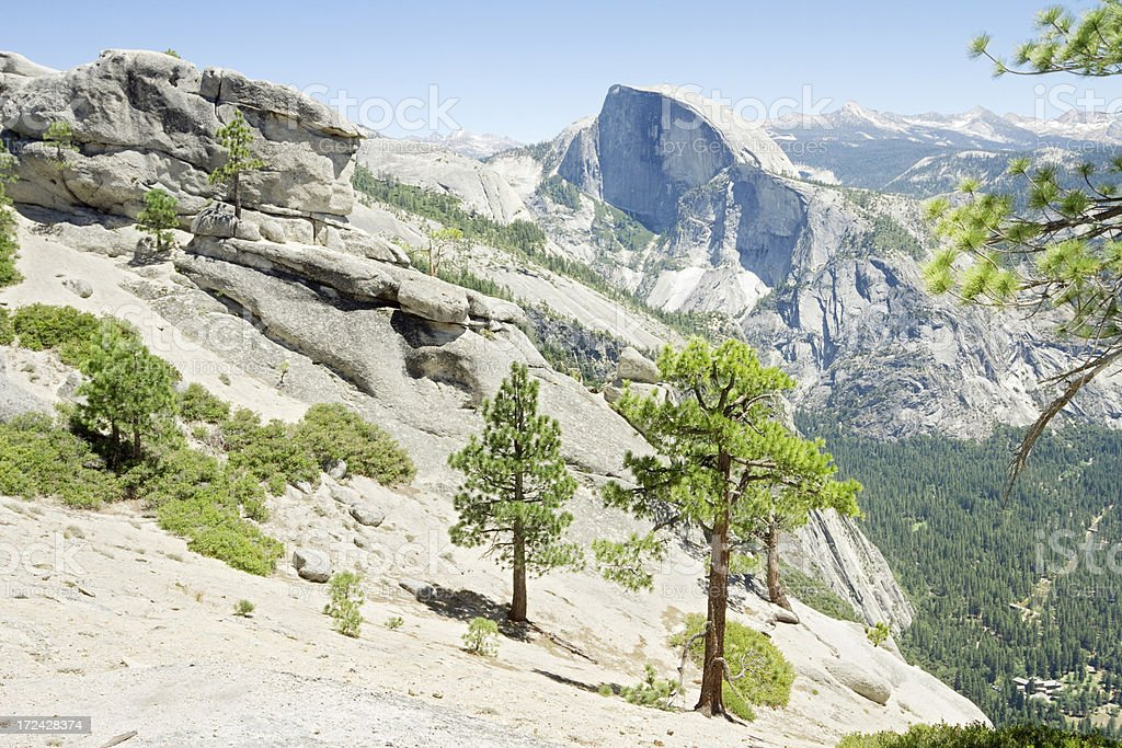 View of Half Dome royalty-free stock photo