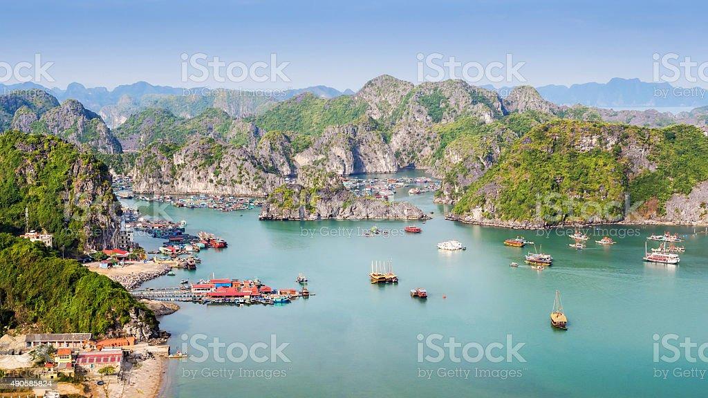 View of Halong Bay, Vietnam stock photo