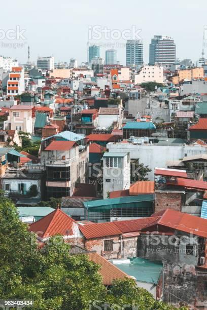 Hanoi Wietnam Czerwiec 29 2009 Widok Na Dachy Hanoi W Wietnamie - zdjęcia stockowe i więcej obrazów Wietnam