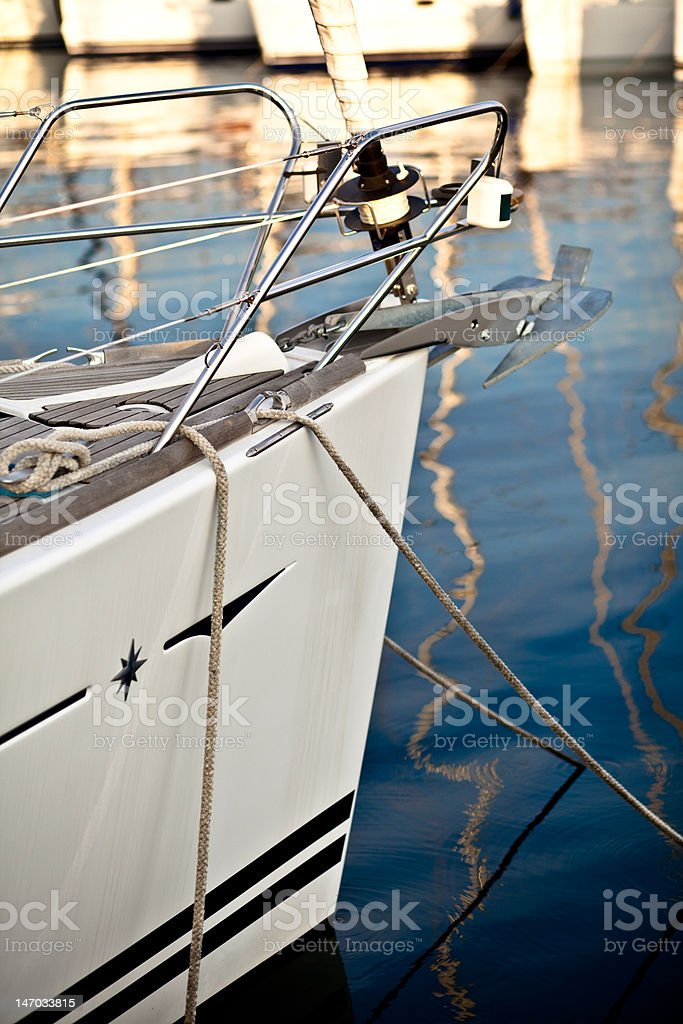 view of harbour in rovinj, croatia royalty-free stock photo