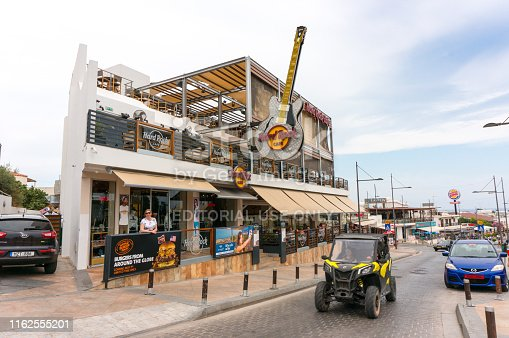 istock View of Hard Rock Cafe - a popular place for music lovers 1162555201