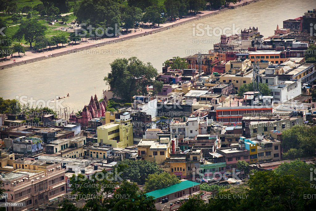 View of Haridwar, Uttarakhand, India royalty-free stock photo