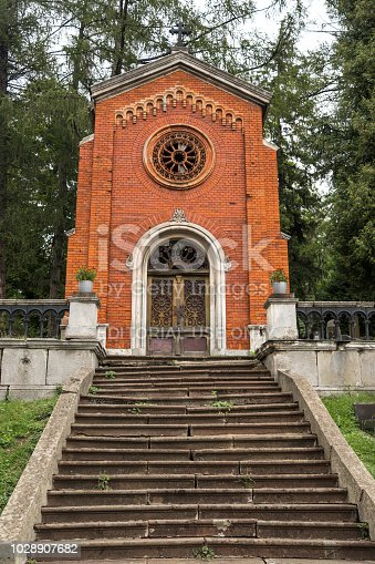 Lviv, Ukraine - 27 August 2018: Since its creation in 1787 as Łyczakowski Cemetery, it has been the main necropolis of the city's intelligentsia, middle and upper classes. Initially the cemetery was located on several hills in the borough of Lychakiv, following the imperial Austro-Hungarian edict ordering that all cemeteries be moved outside of the city limits.