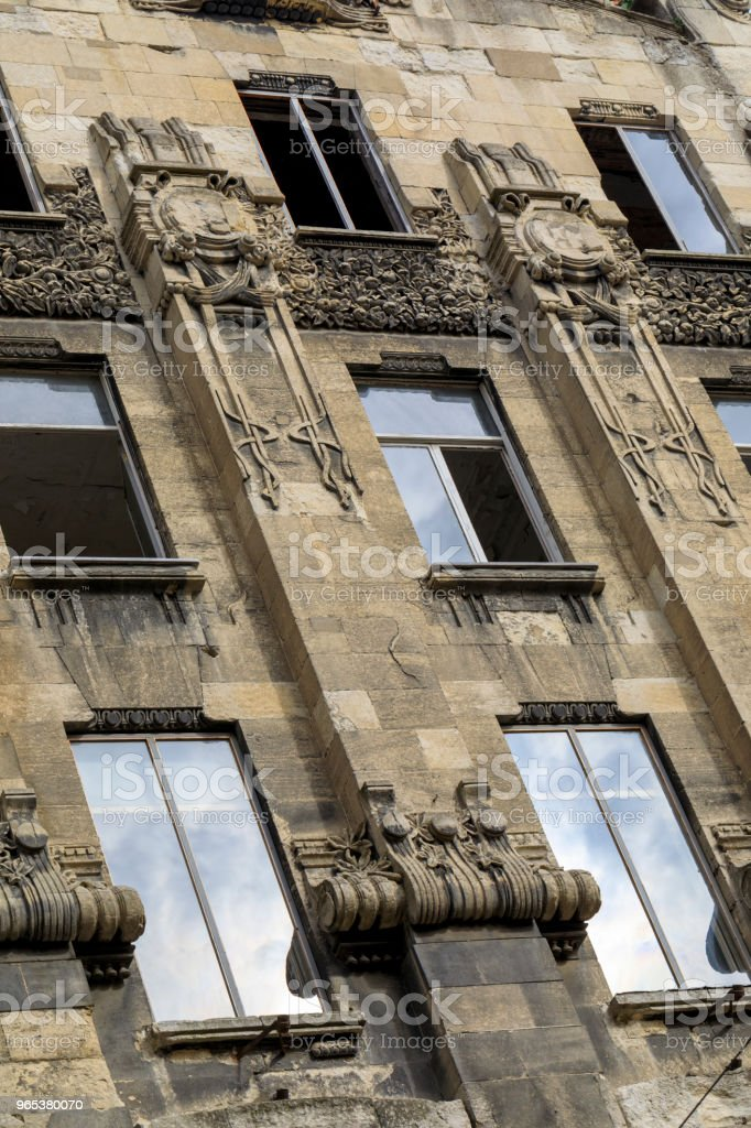 View of historical, old, building on Istiklal avenue royalty-free stock photo