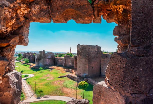 Cтоковое фото View of historical walls in Sur region, Diyarbakir, Turkey