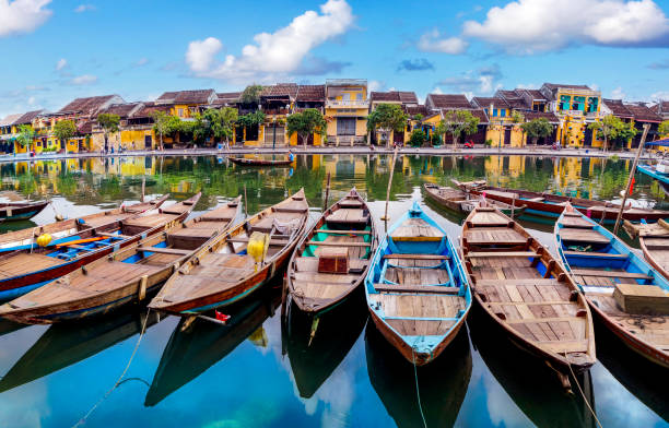 View of Hoi An ancient town Hoi an is one of the most famous destination for tourists. hanoi stock pictures, royalty-free photos & images