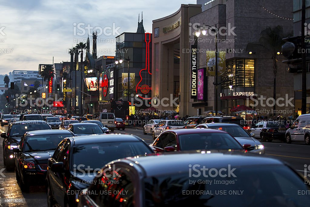 View of Hollywood Boulevard. stock photo