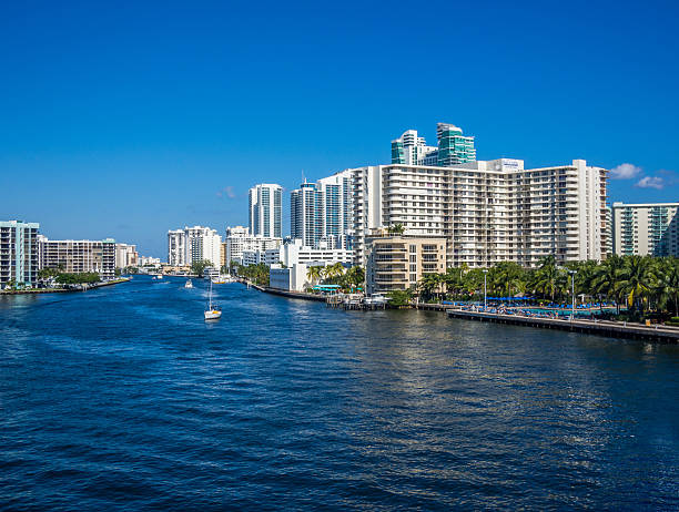 View of Hollywood, FL stock photo