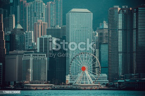 View of Hong Kong Victoria harbour