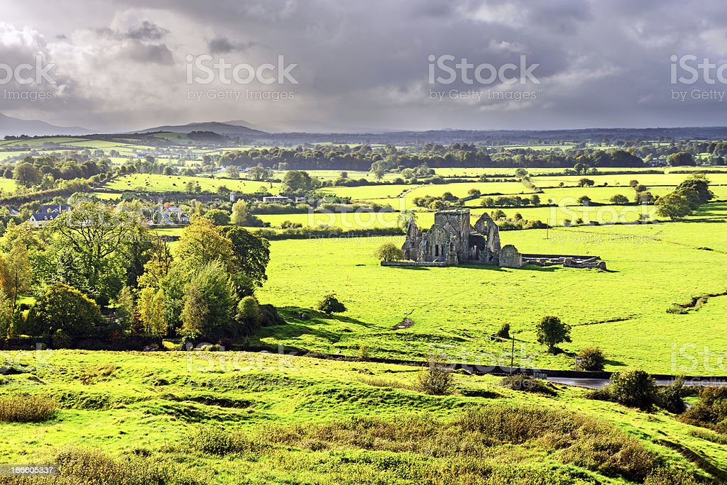 View of Hore Abbey   in Tipperary, Ireland stock photo