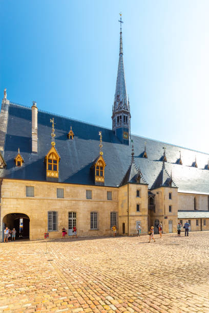 View of Hospice de Beaune or Hotel Dieu,in Burgundy, France stock photo