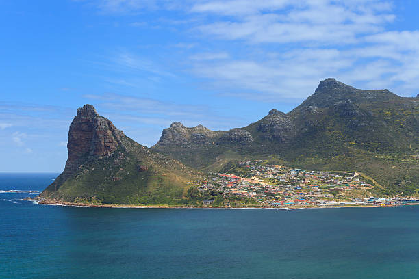 View of Hout Bay from Chapmans Peak View of Hout Bay from Chapmans Peak - Cape Town, South Africa hout stock pictures, royalty-free photos & images