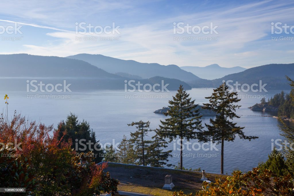 View of Howe Sound West Vancouver stock photo