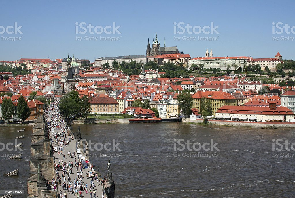 View of Hradcany Castle from the tower royalty-free stock photo