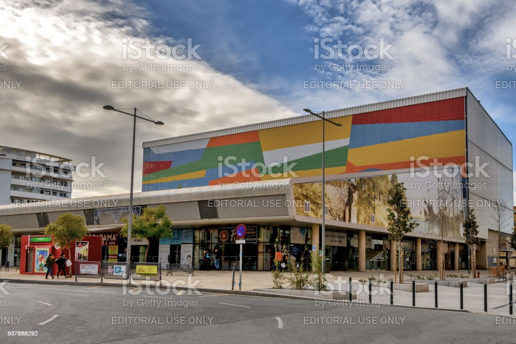 View of Huelva central market or Nuevo Mercado del Carmen stock photo