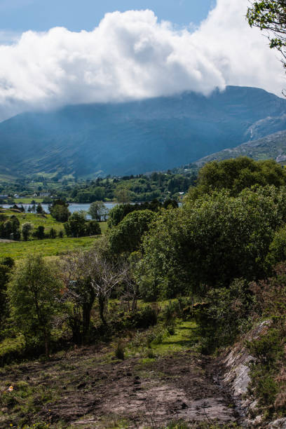 View of Hungry Hill from the Famine Road, Adrigole, County Cork stock photo