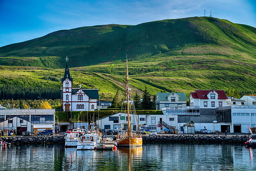 istock View of Husavik in Iceland 688600172