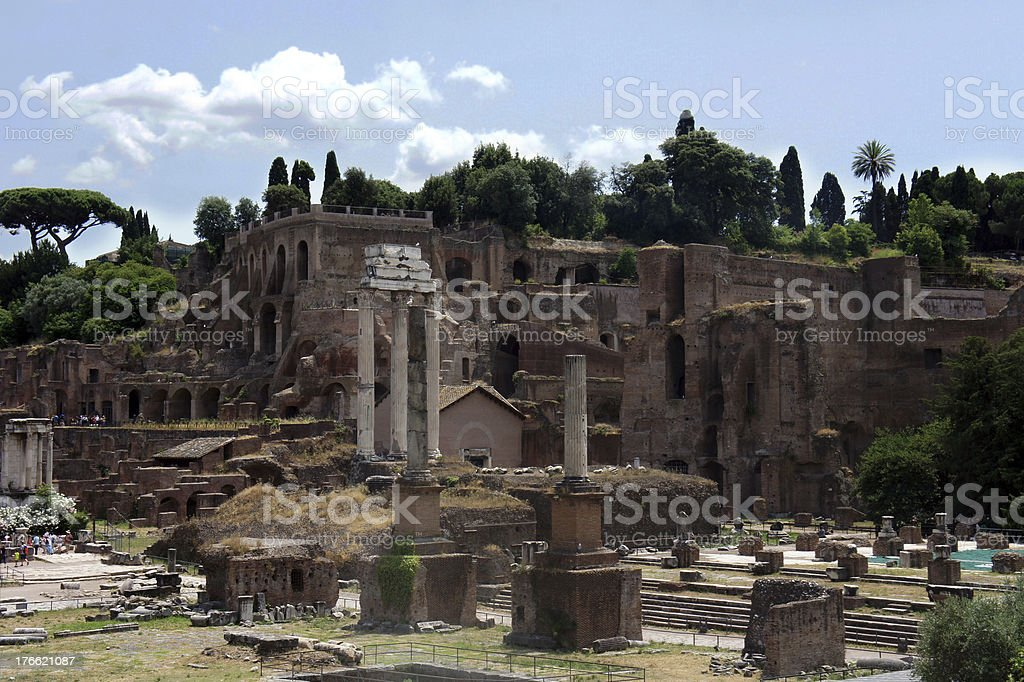 View of Imperial Forum in Rome, Italy royalty-free stock photo