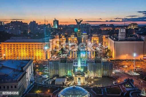 istock View of Independence Square (Maidan Nezalezhnosti) in Kiev, Ukraine 623984058